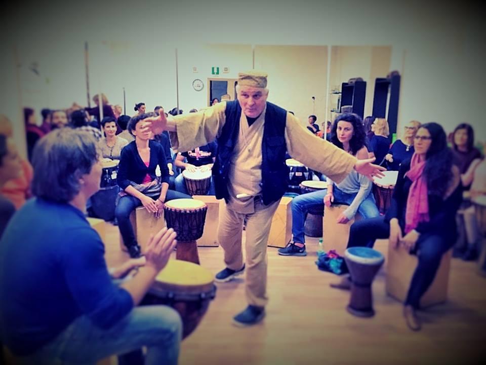 Drum Circle Training con Arthur Hull e H.F. Chiostri